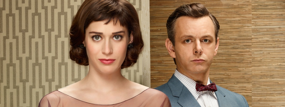 Lizzy Caplan and Michael Sheen as Virginia Johnson and William Masters
