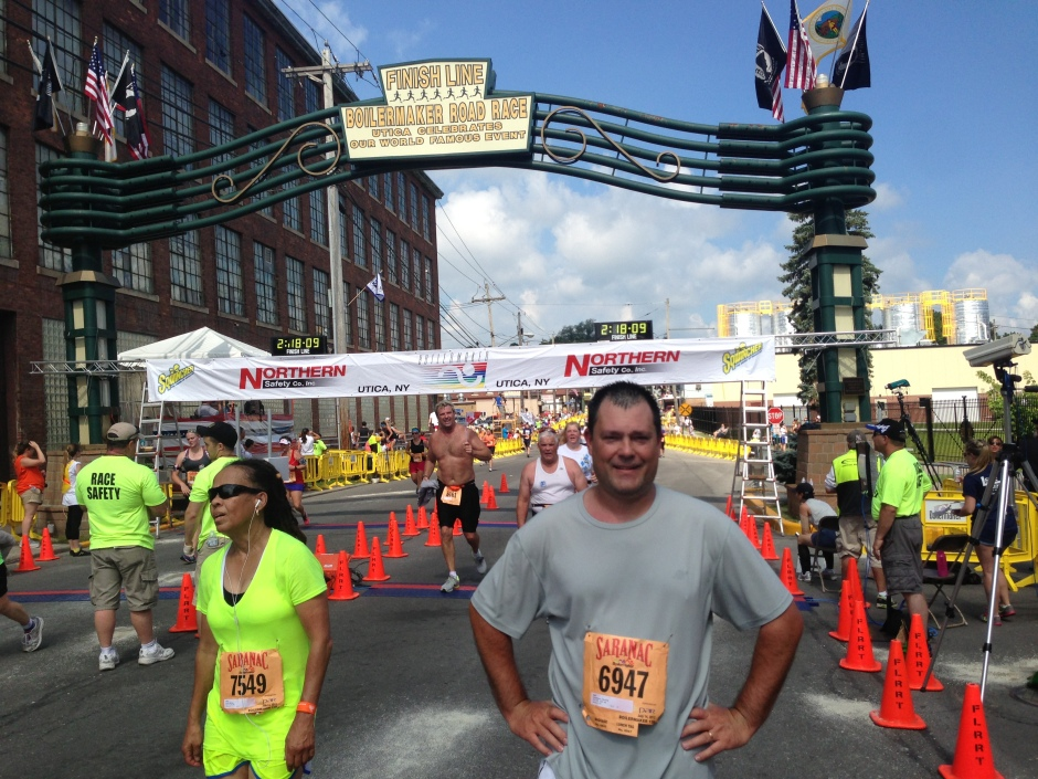 Chris Champion at the 2013 Boilermaker finish line