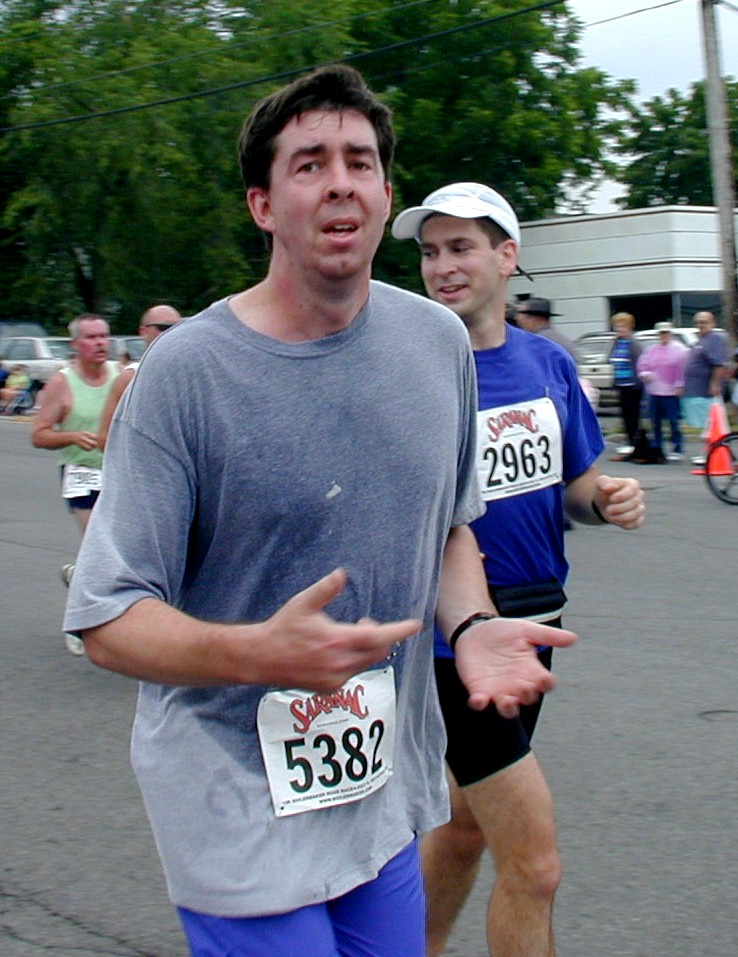 John Bradley running the 2001 Boilermaker