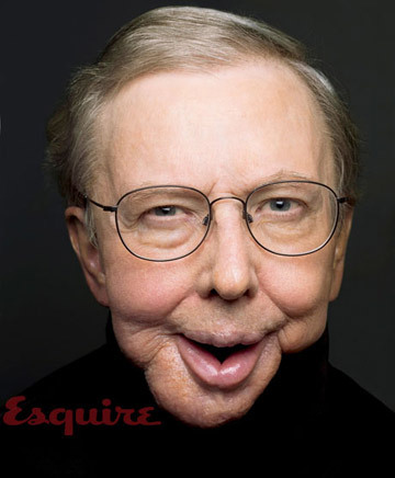 Roger Ebert on the cover of Esquire Magazine, 2010