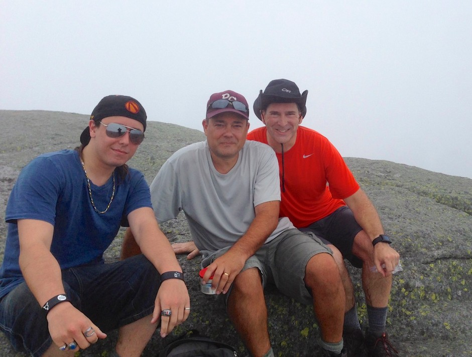 Hiking party on the summit