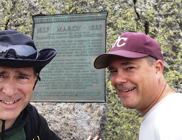 On the summit of Mt. Marcy - August 20, 2014
