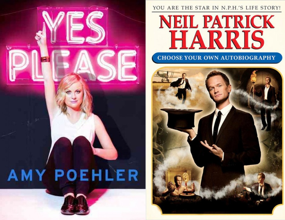 Book jackets for Amy Pohelr's Yes Please and Neil Patrick Harris' Choose Your Own Autobiography