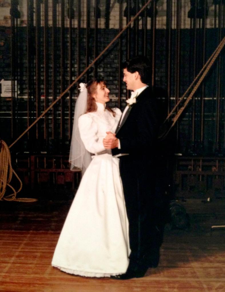 Susan and Chris, backstage