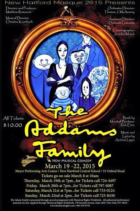 New Hartford HS Musical Poster - Addams Family