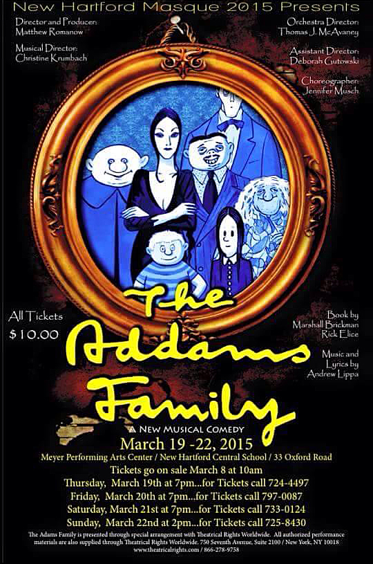 New Hartford HS Musical Poster - Addams Family