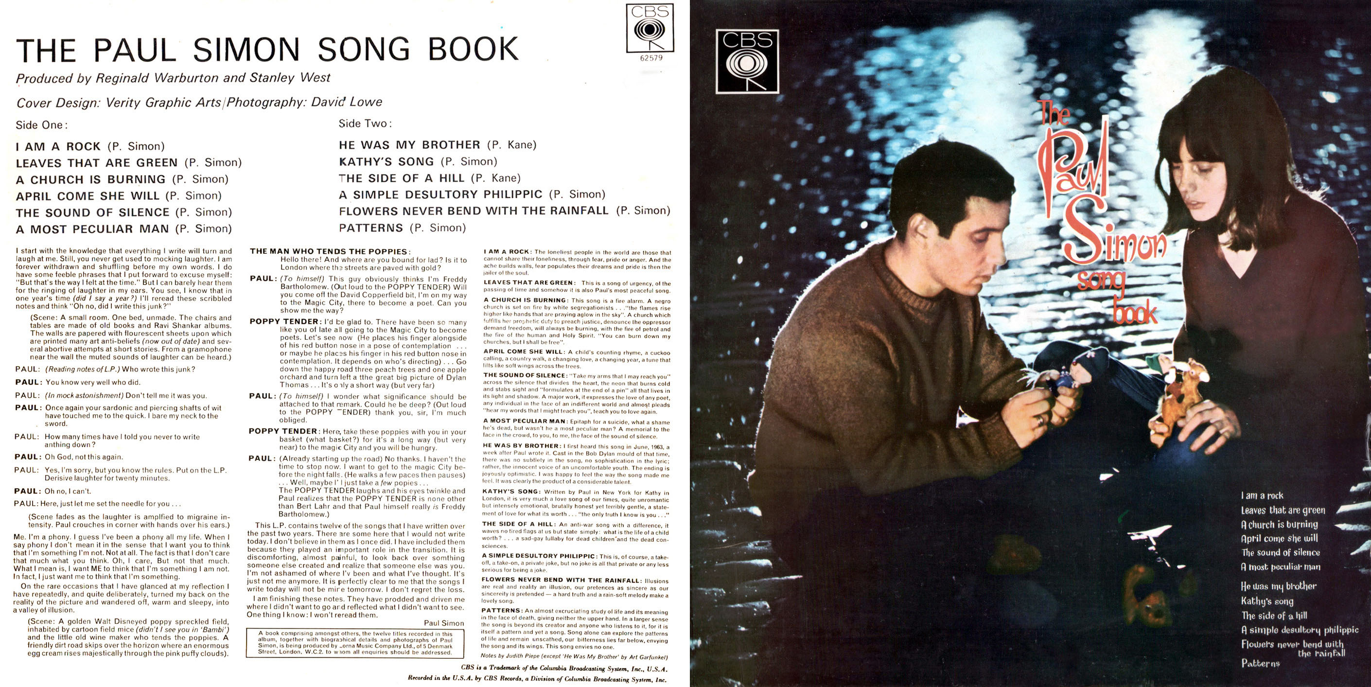 Book Of Love Album Cover : The paul simon songbook moss island sounds