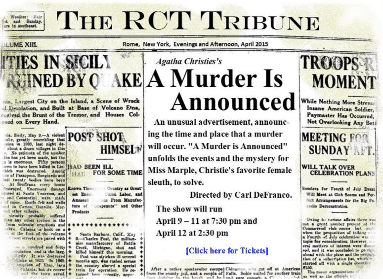 A Murder is Announced - Rome Community Theater