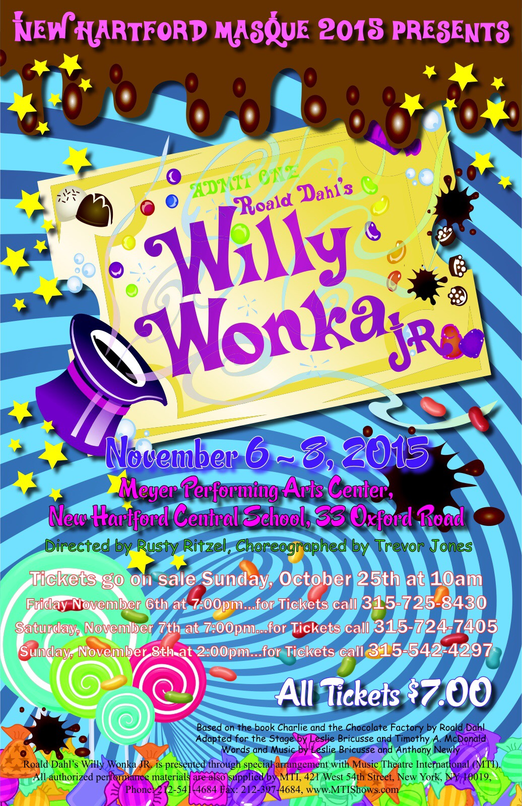 notes on willy wonka jr   perry junior high  new hartford  ny   u2013 moss island sounds